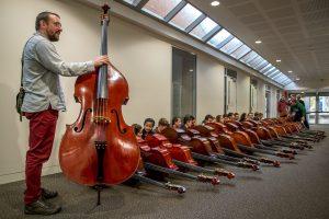 2016 Double Bass Workshop Participants with Etienne Lafrance