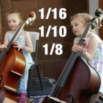 1/16, 1/10, 1/8 sized Double Basses